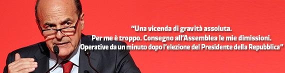dimissioni Bersani