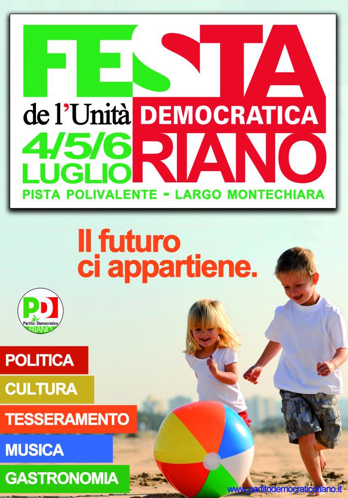 manifesto festa pd riano 2014